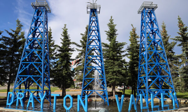 Town of Drayton Valley sign