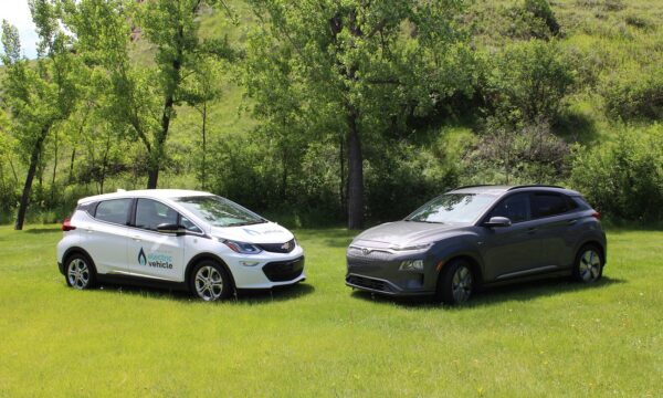 Medicine Hat two electric vehicles